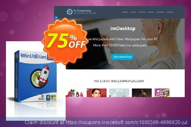 WinUtilities Pro (Lifetime / 1 PC) discount 75% OFF, 2020 New Year's Weekend offering sales