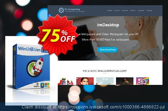 WinUtilities Pro (Lifetime / 3 PCs) discount 75% OFF, 2020 4th of July offer