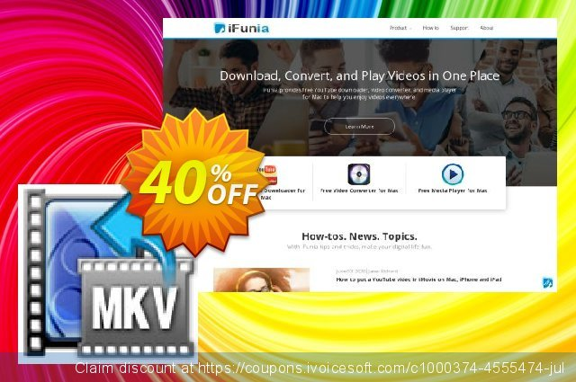 iFunia MKV Converter for Mac discount 40% OFF, 2021 Happy New Year offering sales
