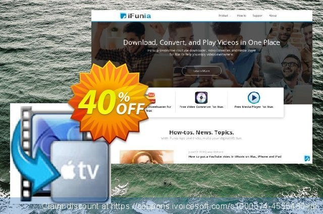 iFunia Apple TV Video Converter for Mac discount 40% OFF, 2020 Christmas Day offering sales