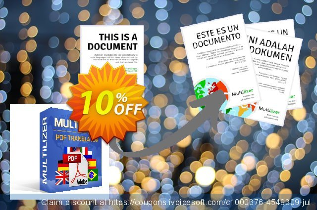 Multilizer PDF Translator Pro discount 10% OFF, 2021 New Year's Weekend offering sales
