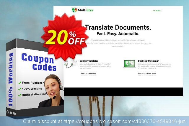Multilizer PDF-översättare Standard  특별한   촉진  스크린 샷