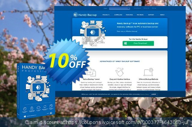 Handy Backup Professional discount 10% OFF, 2021 New Year's Day offering sales