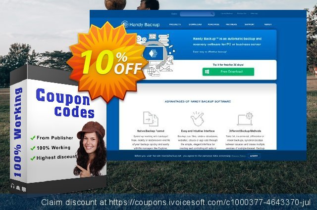 Upgrade Handy Backup Standard to Version 8 discount 10% OFF, 2020 New Year's Day offering sales