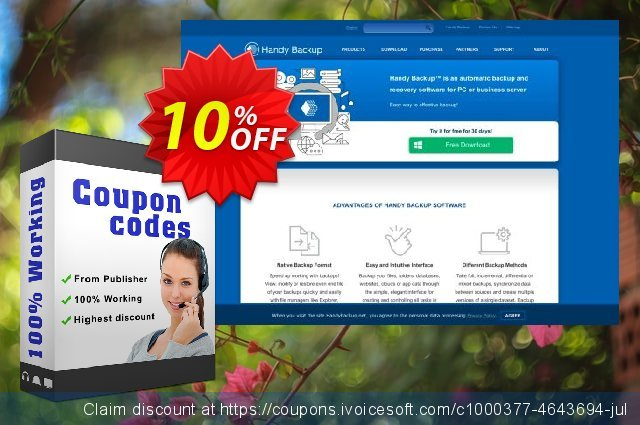 Upgrade Handy Backup Professional to Version 8 discount 10% OFF, 2021 New Year's Weekend offering discount
