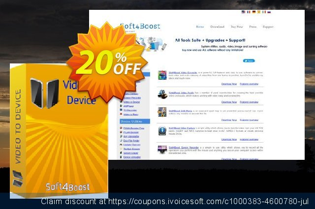 Soft4Boost Video to Device discount 20% OFF, 2020 Back to School promo offering sales