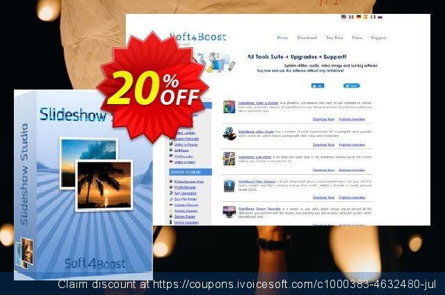 Soft4Boost Slideshow Studio discount 20% OFF, 2020 Thanksgiving Day offering sales
