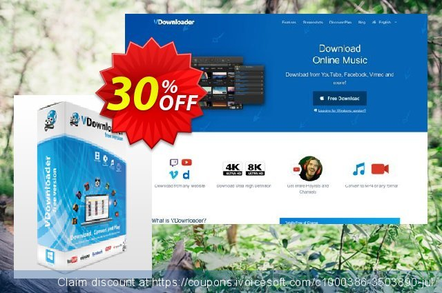 VDownloader Plus discount 30% OFF, 2020 University Student offer deals