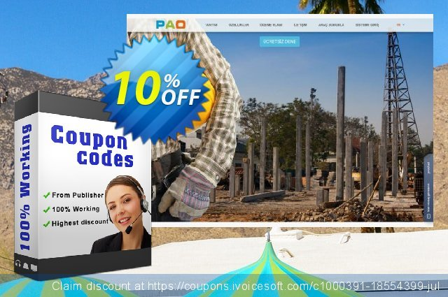 PAO Professional discount 10% OFF, 2019 Year-End offering sales