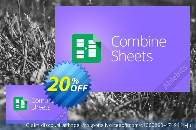 Combine Sheets add-on for Google Sheets  서늘해요   프로모션  스크린 샷