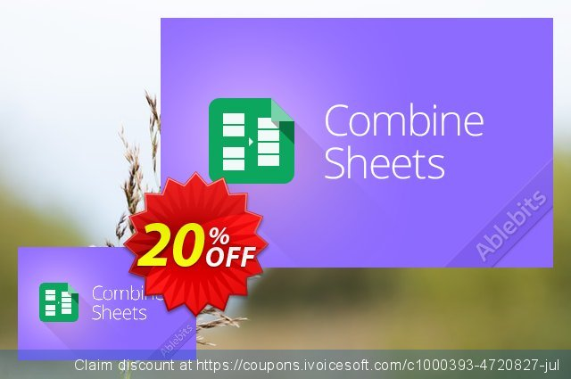 Combine Sheets add-on for Google Sheets, 1-month subscription  멋있어요   촉진  스크린 샷