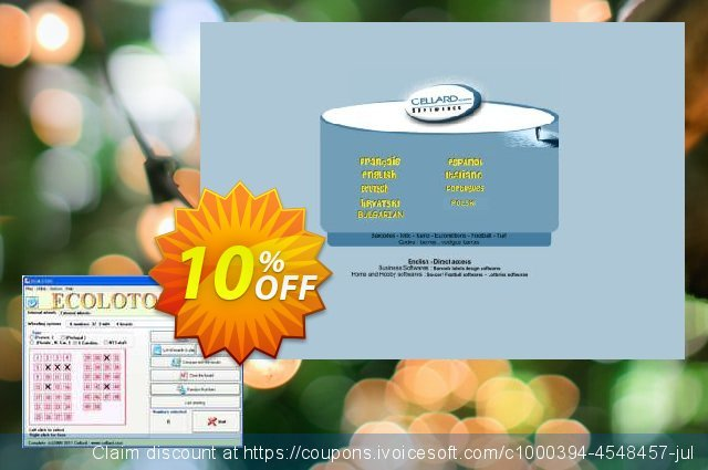 Get 10% OFF ECOLOTO5US-CD offering sales