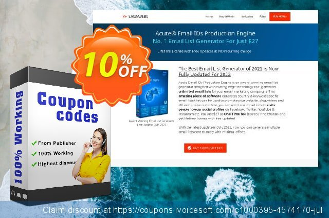 Acute Email IDs Production Engine discount 10% OFF, 2020 American Independence Day offering sales