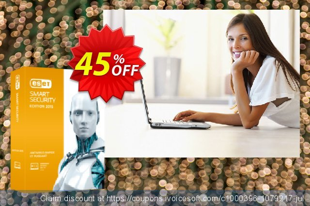 ESET Smart Security - Nouvelle licence 3 ans pour 2 ordinateurs discount 10% OFF, 2019 Halloween offering sales