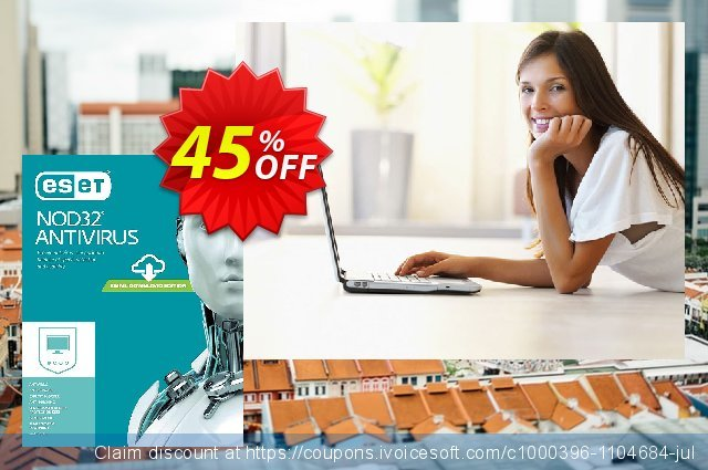 NOD32 Antivirus - Nouvelle licence 1 an pour 5 ordinateurs discount 10% OFF, 2019 Halloween sales