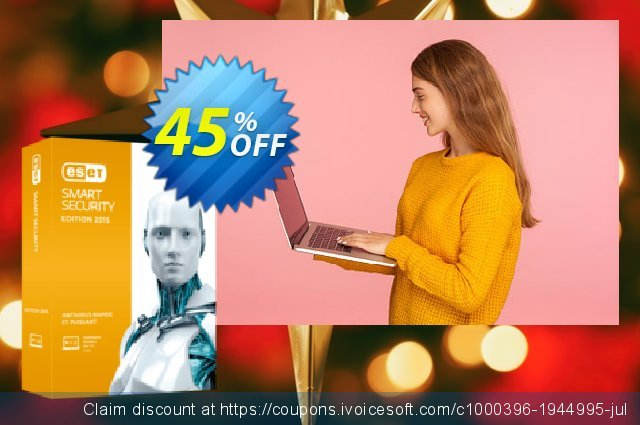 ESET Smart Security - Nouvelle licence 3 ans pour 3 ordinateurs discount 10% OFF, 2019 Halloween discounts