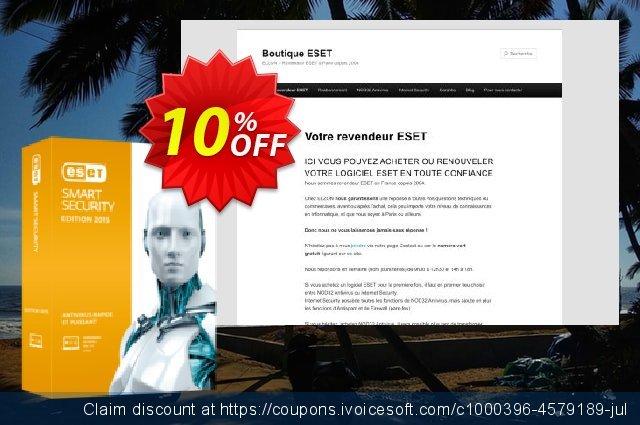ESET Smart Security - Réabonnement 1 an pour 5 ordinateurs discount 10% OFF, 2019 Halloween offering sales