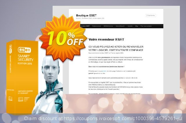 ESET Smart Security - Réabonnement 2 ans pour 3 ordinateurs discount 10% OFF, 2020 Student deals promo sales