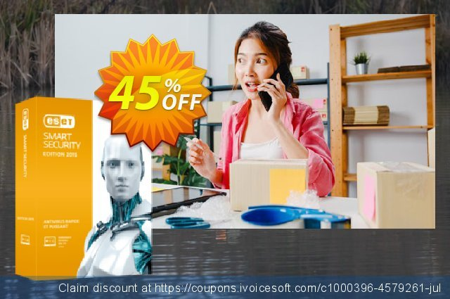 ESET Smart Security - Renew 2 Years 3 Devices discount 45% OFF, 2021 Halloween offering sales. ESET Smart Security - Réabonnement 2 ans pour 3 ordinateurs awful promotions code 2021
