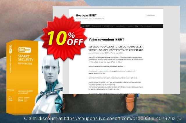 ESET Smart Security - Réabonnement 3 ans pour 1 ordinateur discount 10% OFF, 2019 Halloween offering sales