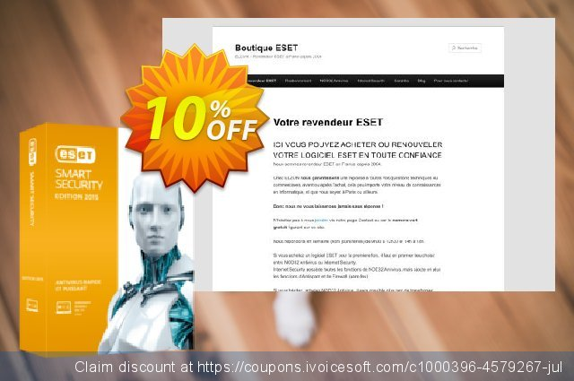 ESET Smart Security - Réabonnement 3 ans pour 4 ordinateurs discount 10% OFF, 2020 College Student deals offering sales