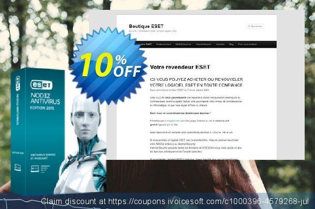 NOD32 Antivirus - Réabonnement 3 ans pour 1 ordinateur discount 10% OFF, 2020 New Year's Day promo sales