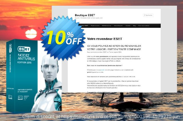 NOD32 Antivirus - Réabonnement 3 ans pour 3 ordinateurs discount 10% OFF, 2020 Working Day offering sales