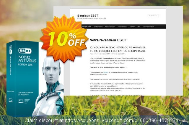 NOD32 Antivirus - Réabonnement 3 ans pour 4 ordinateurs discount 10% OFF, 2020 Happy New Year offering sales