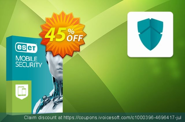 ESET Mobile Security - Reabonnement 1 an pour 4 appareils discount 10% OFF, 2020 Back to School coupons offering sales