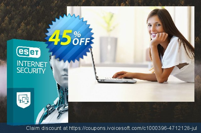 ESET Internet Security - Abonnement 1 an pour 2 ordinateurs discount 10% OFF, 2019 Halloween offering sales