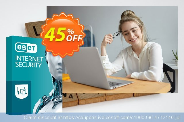 ESET Internet Security - Abonnement 1 an pour 4 ordinateurs discount 10% OFF, 2019 Halloween offer