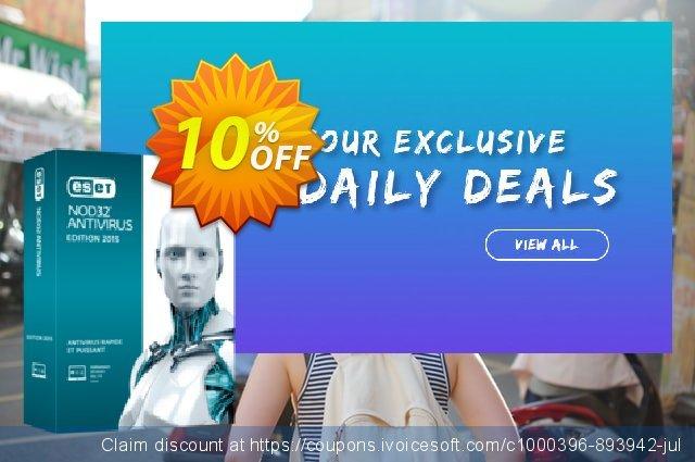 NOD32 Antivirus - Réabonnement 2 ans pour 2 ordinateurs discount 10% OFF, 2020 Teddy Day offering discount