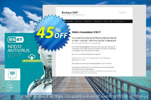 NOD32 Antivirus - Nouvelle licence 2 ans pour 3 ordinateurs discount 10% OFF, 2020 Back to School event offering sales