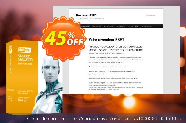 ESET Smart Security - Nouvelle licence 1 an pour 2 ordinateurs 대단하다  촉진  스크린 샷
