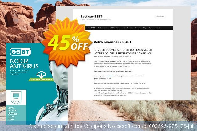 NOD32 Antivirus - Nouvelle licence 1 an pour 4 ordinateurs discount 10% OFF, 2020 Exclusive Teacher discount offering sales