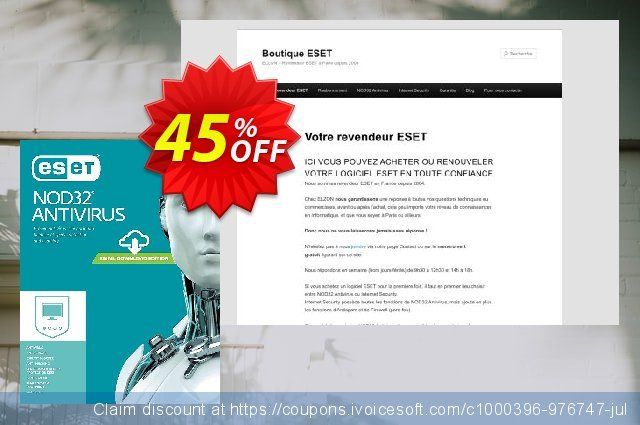 NOD32 Antivirus - Nouvelle licence 2 ans pour 4 ordinateurs discount 10% OFF, 2019 Halloween offering sales