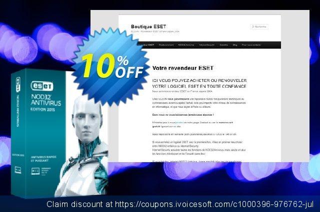 NOD32 Antivirus - Réabonnement 2 ans pour 4 ordinateurs discount 10% OFF, 2020 New Year offer