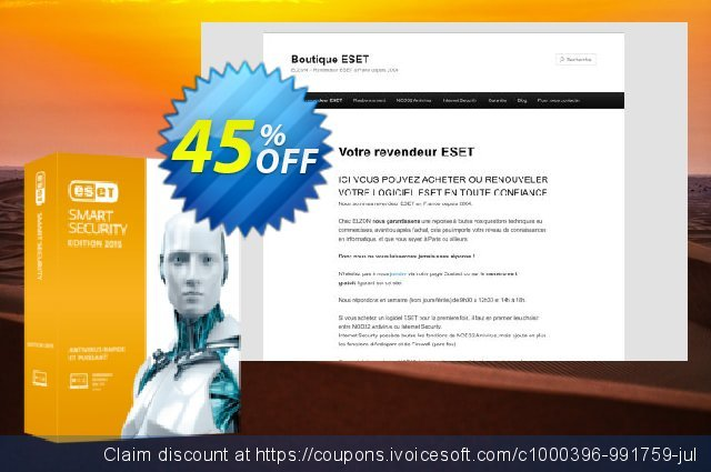 ESET Smart Security - Nouvelle licence 1 an pour 4 ordinateurs discount 10% OFF, 2019 Halloween discounts