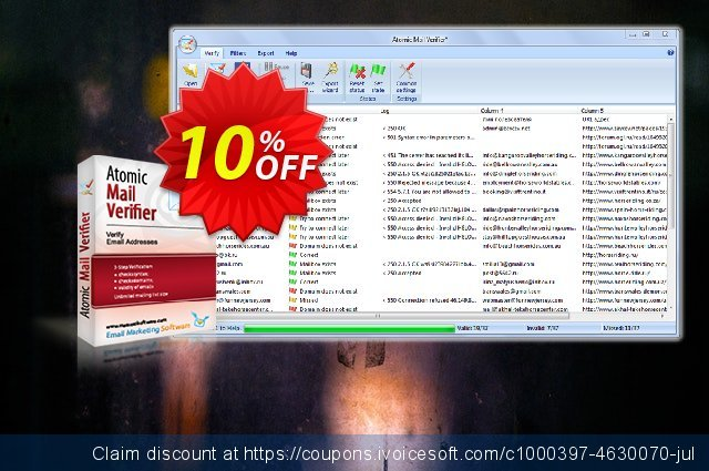 Advanced Email Verifier discount 20% OFF, 2019 Year-End offering sales