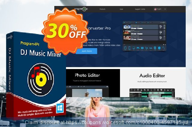 Program4Pc DJ Music Mixer discount 30% OFF, 2020 New Year's Weekend promo