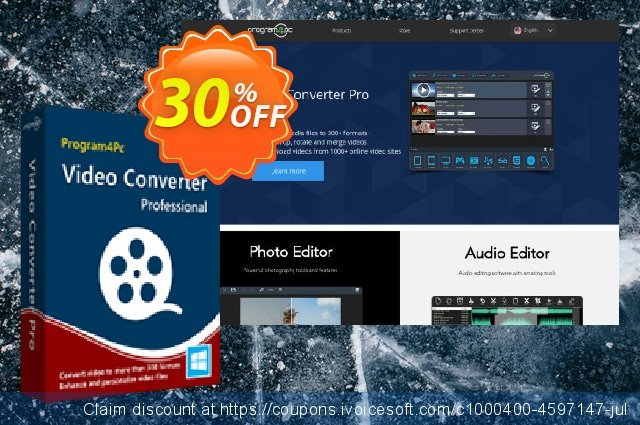 Program4Pc Video Converter Pro discount 30% OFF, 2019 4th of July offering sales