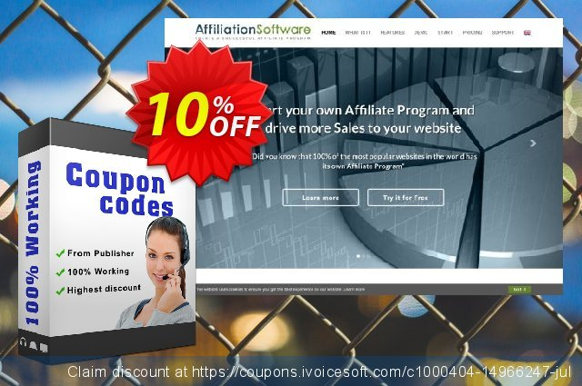 AffiliationSoftware Business discount 10% OFF, 2020 Back to School season offering sales