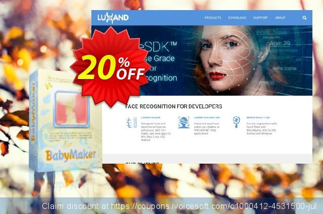 Luxand BabyMaker discount 20% OFF, 2021 April Fools' Day deals