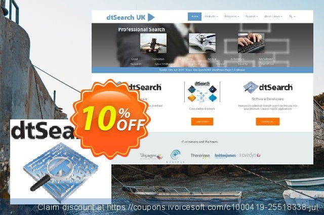 dtSearch Publish 250 discount 10% OFF, 2020 Summer promo