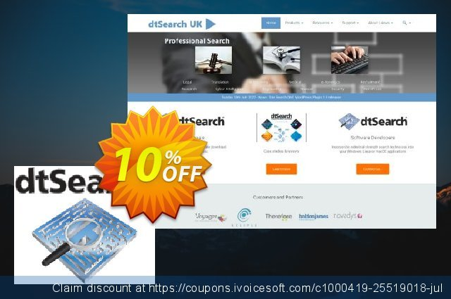 dtSearch Publish SB discount 10% OFF, 2020 Summer offering discount