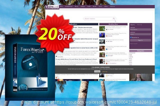 Forex Warrior EA discount 20% OFF, 2020 University Student offer offering sales