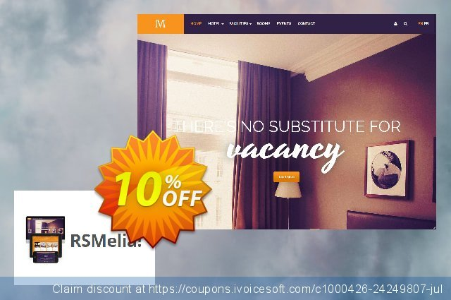 RSMelia! Single site Subscription for 12 Months discount 10% OFF, 2020 Halloween deals