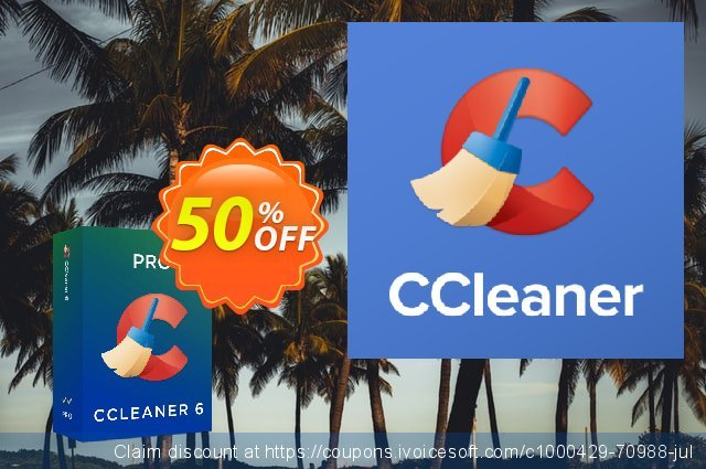 CCleaner Professional discount 50% OFF, 2020 Summer discounts