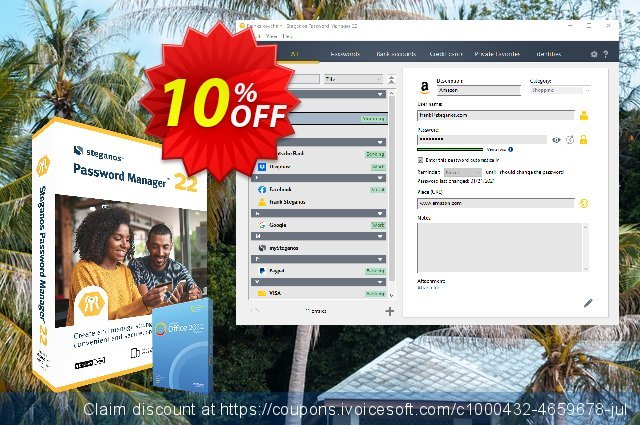 Get 10% OFF Steganos Password Manager 17 (ES) promo sales