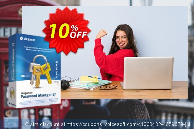 Steganos Password Manager 17 (PT) discount 10% OFF, 2020 July 4th offering sales